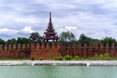 Tower of Mandalay Palace. Stock Photos