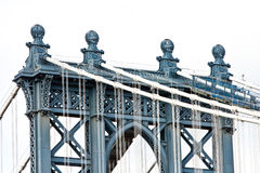 Tower of Manhattan Bridge Stock Image