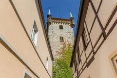 Tower of the Marien church in Warendorf stock photos