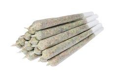 Tower of marijuana joints Stock Photos