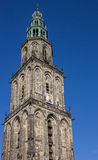 Tower of the Martini church in Groningen Royalty Free Stock Photos