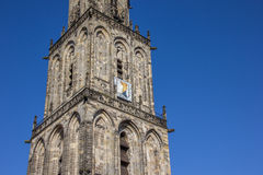 Tower of the Martini church in Groningen Stock Photos