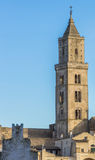 Tower of the Matera cathedral in Basilicata Stock Images