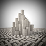 Tower and maze Royalty Free Stock Images
