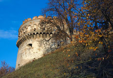 Tower of the ancient castle Stock Images