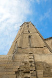 Tower of a medieval castle in Lleida Stock Image