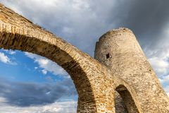 Tower of the medieval castle Spis. Tower of the medieval castle Spis, Slovakia, Europe Royalty Free Stock Photos