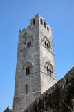 Tower of Medieval Catholic Church Chiesa Matrice in Erice. Royalty Free Stock Images