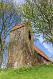Tower of the medieval church in Oostum Royalty Free Stock Photo