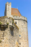 Tower in the medieval city of Carcassonne Stock Images