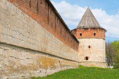 Tower of medieval fortress Stock Photography