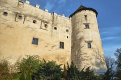 The tower of the medieval fortress. In Niedzica in Poland Royalty Free Stock Photo