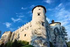 The tower of the medieval fortress. In Niedzica in Poland Stock Photos