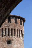 Tower of medieval italian castle on blue sky Royalty Free Stock Photography