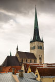 A tower of medieval town Tallinn Royalty Free Stock Photos