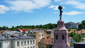 Tower of merchants club. View of old town of Vilnius with tower of merchants club in front Royalty Free Stock Photography