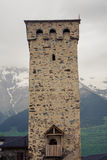 Tower in Mestia, Svaneti, Georgia Stock Photos