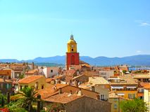 Tower in Saint Tropez in France royalty free stock photography