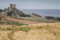 Tower. In the middle of sicilian interior Stock Photo