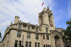 The tower of the Middlesex Guildhall Royalty Free Stock Photos