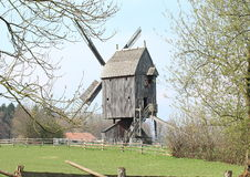 Tower Mill. One of the Hessenpark's attraction. Built in 1789, reconstructed in 1842 after a fire. The cap and vanes are turnable into the wind, its present Royalty Free Stock Photo