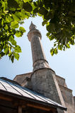 Tower minaret of Koski Mehmed Pasha Mosque Royalty Free Stock Images