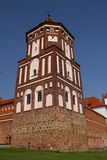 The Tower of the Mir Castle. Belarus Stock Image