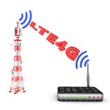 Tower and modem Stock Photography