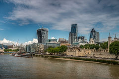 Tower and modern buildings change London. Image was taken on August 2014 in London, UK Stock Photography