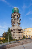 Tower monastery under construction Royalty Free Stock Photography