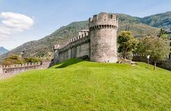 Tower of Montebello Castle in Belinzona, Switzerland. Tower of Montebello Castle in Belinzona, Ticino, Switzerland Stock Images
