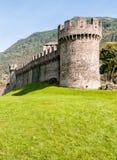 Tower of Montebello Castle in Belinzona, Switzerland. Tower of Montebello Castle in Belinzona, Ticino, Switzerland Stock Image