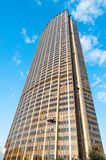 Tower Montparnasse Paris with blue sky Royalty Free Stock Image