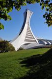The tower of the Montreal Olympic Stadium Stock Photo