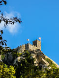 A tower of the Moorish Castle in Sintra, Portugal Stock Photography