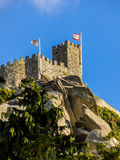 A tower of the Moorish Castle in Sintra, Portugal Stock Images