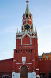 Tower of the Moscow Kremlin. Russia, Moscow. A Spassky tower of the Moscow Kremlin with clocks.  Red Square, the centre Royalty Free Stock Photos