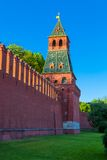 The tower of Moscow Kremlin stock photo