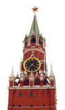 Tower of Moscow kremlin isolated on white Royalty Free Stock Images