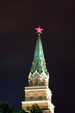 Tower of the Moscow Kremlin at night Royalty Free Stock Photography