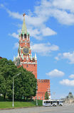 Tower of Moscow Kremlin at noon. Clock tower of Moscow Kremlin at noon Stock Image