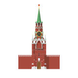 Tower of Moscow Kremlin in Russia. Spasskaya Tower of Moscow Kremlin in Russia Royalty Free Stock Photos
