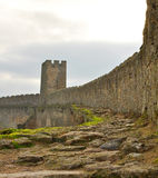 The tower. Moss-covered wall of the old Akkerman fortress Stock Image
