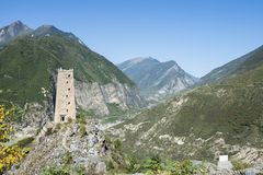 diaolou tower mountain landscape Stock Photography