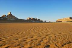 Aqabat desert, Africa, Sahara, Egypt. Tower mountains Aqabat desert at sunrise time. Africa, Sahara, Egypt stock photography