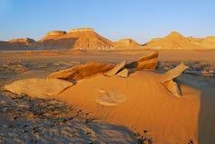 Aqabat desert at sunset. Africa, Sahara, Egypt. Tower mountains Aqabat desert at sunset time. Africa, Sahara, Egypt royalty free stock image