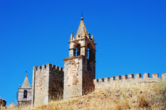Tower of Mourao castle, Portugal Royalty Free Stock Photo
