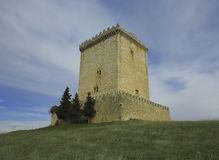 Tower of Muñó Mazuelo, southwest of Burgos. Stock Images