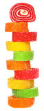 Tower of multicolored candy Royalty Free Stock Photo