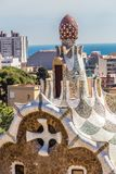 Tower Of Gate House - Park Guell, Barcelona, Spain. Tower Of Mushroom Shaped Gate House - Park Guell, Barcelona, Catalonia, Spain, Europe Royalty Free Stock Photos
